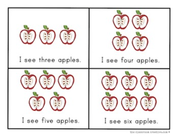Apple Mini Emergent Reader: Apple Counting with One to One Correspondence