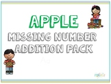 Apple Missing Addends Puzzles