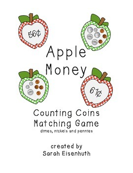 Apple Money Matching Game - Dimes, Nickels and Pennies