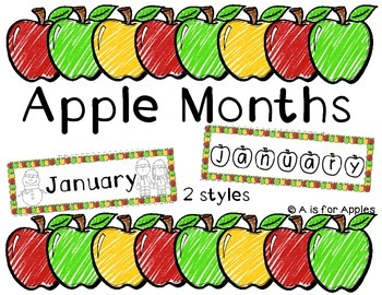 Apple Months of the Year
