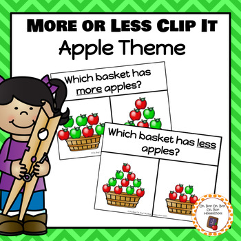 Apple More or Less Clip It Cards - S