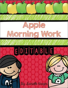 Apple Morning Work (Common Core Alligned)