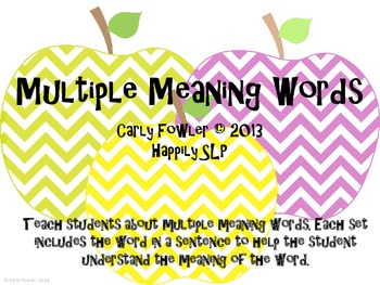 Apple Multiple Meaning Words- Bundle