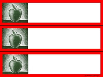 Apple Name Plates