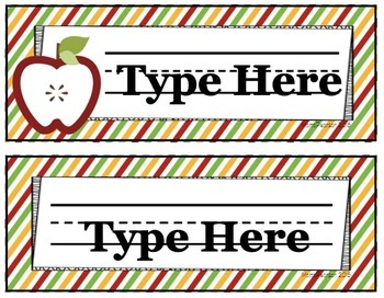 Editable Apple Name Plates