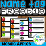 Apple Name Tag FREEBIE