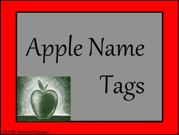 Apple Name Tags