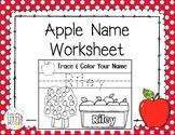 Apple Name Worksheet (CUSTOM NOT EDITABLE)