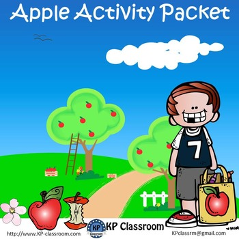 Apple No Prep Activity Packet with Johnny Appleseed Worksheets