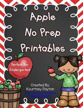 Apple No Prep Printables