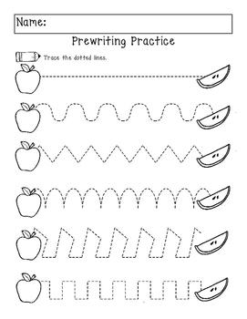 Apple No Prep Worksheets