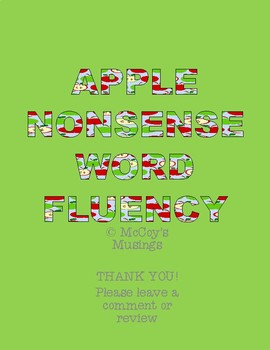 Apple Nonsense Word Fluency