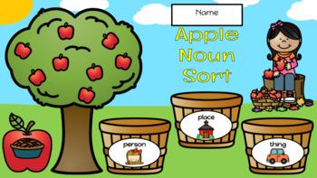 Apple Noun Sort - September Center (in Google: Digital and Interactive)