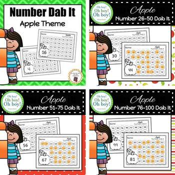 Apple Number 0-100 Dab It BUNDLE