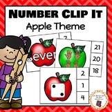 Apple Number (0-20) Clip It Cards - S