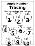 Apple Number 1-10 Tracing
