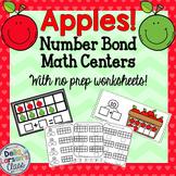 Apple Number Bond Math Center {No Prep Worksheets}