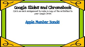 Apple Number Bonds-A Digital Math Center (Compatible with Google Apps)