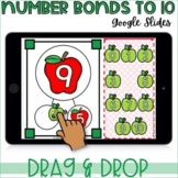 Apple Number Bonds to 10 for GOOGLE Classroom distance learning