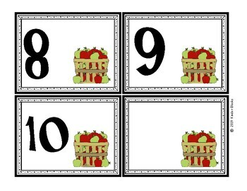 Apple Number Cards 0 - 20