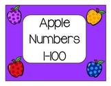 Apple Number Cards 1-100