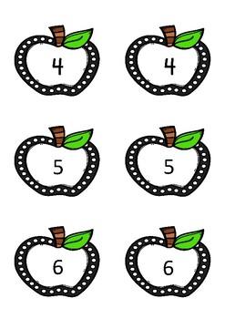 Apple Number Cards