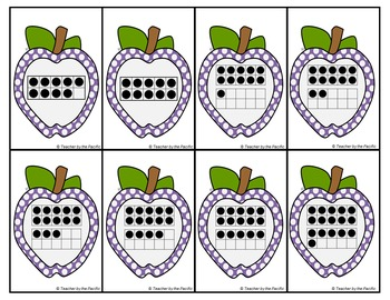 APPLE Math Number Cards: For Matching, Sequencing, Memory, Adding, Comparing