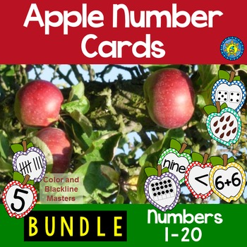 APPLE Math Number Cards: For Matching, Sequencing, Memory,