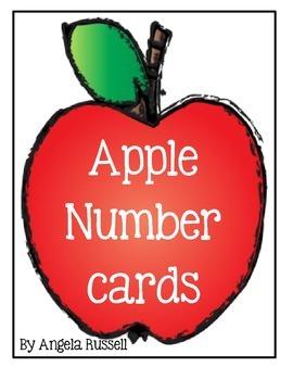 Apple Number Cards ~ 4 Pocket Chart Ideas