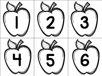 Apple Number Cards and Tally Worksheet