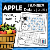 Apple Numbers 0-25 Dab It