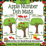 Apple Number Doh Mats
