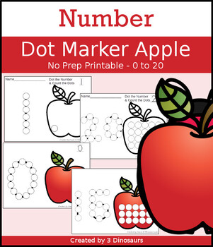 Apple Number Dot Marker & Counting