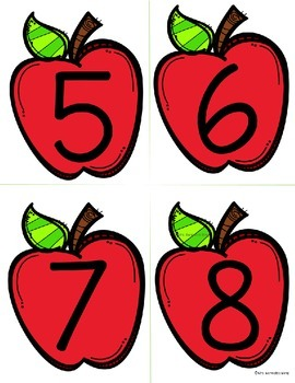 Apple Number Flashcards 1-100