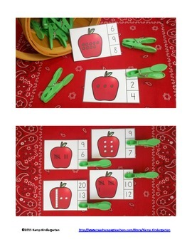 Apple Number Fun Math Centers Numerals to 20