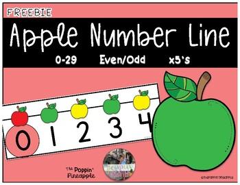 Apple Number Line 0-29 FREEBIE