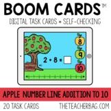 Apple Number Line Addition 1-10 BOOM CARDS™