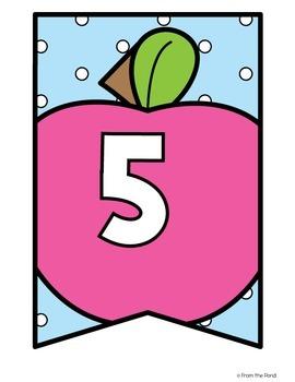 Apple Number Line Banner Pack