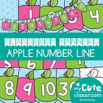 Apple Number Line Banner Pack