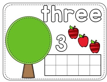 Apple Number Mats 1-10