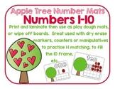 Apple Number Mats 1-10