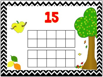 Apple Number Mats {freebie}