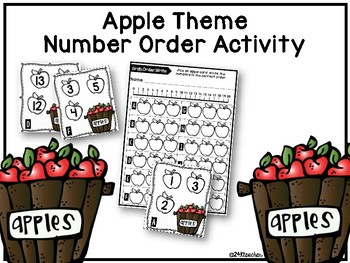 Apple Number Order Activity