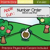 Apple Number Order: Before and After Numbers 1-20 (Smart Notebook)