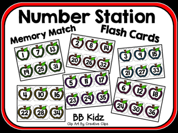 Apple  Number Order Station / Memory Match
