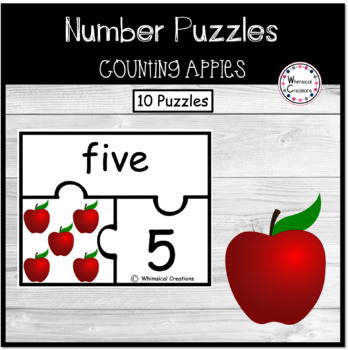 Apple Number Puzzles (1-10)