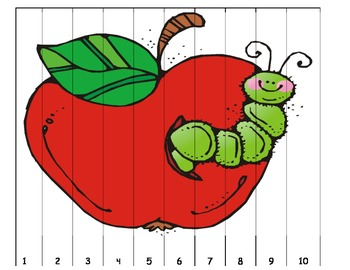 Apple Number Puzzles 1-10 11-20 1-20