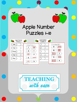 Apple Number Puzzles 1-10