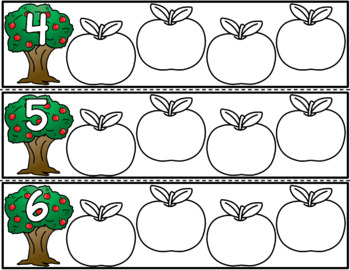 Apple Number Puzzles - Number Identification
