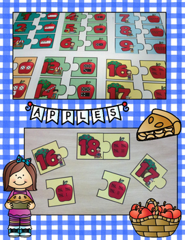 Apple Number Puzzles Numerals to 20